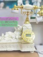 ของแต่งบ้านเก๋ๆ โทรศัพท์โบราณสไตล์หลุยส์รูปสาวงามกับลูกน้อย