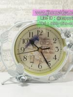 ของแต่งบ้านวินเทจเก๋ๆไม่เหมือนใคร นาฬิกาตั้งโต๊ะสีขาว