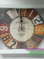 นาฬิกาสไตล์วินเทจตกแต่งบ้าน รุ่น London 1887 สำหรับแขวนติดผนัง