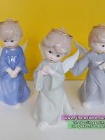 ตุ๊กตาเรซิ่นนางฟ้าเด็กน้อยแสนน่ารัก มีวงแหวนบนศีรษะ เซต 3 ตัว