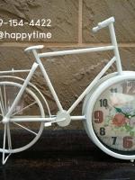 นาฬิกาตั้งโต๊ะ รูปจักรยานขาว