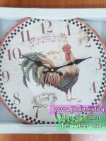 นาฬิกาแขวนผนัง Vintage รุ่นแม่ไก่ Morning Farm