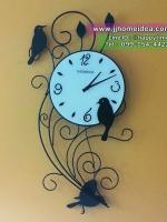 นาฬิกาแขวนผนังเหล็กดัด รุ่นกิ่งไม้นก สำหรับติดผนังตกแต่งบ้านสวยเก๋