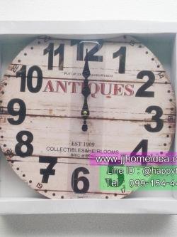 นาฬิกาติดผนังตกแต่งบ้านแนว Vintage รุ่น Antiques