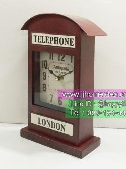 ของแต่งบ้านเก๋ๆแนววินเทจ รุ่นนาฬิกาตู้โทรศัพท์แดง London