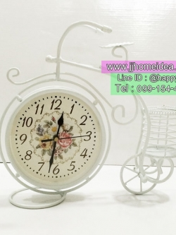 ของแต่งบ้านสไตล์วินเทจ Vintage เก๋ๆไม่เหมือนใคร รุ่นนาฬิกาตั้งโต๊ะสีขาว