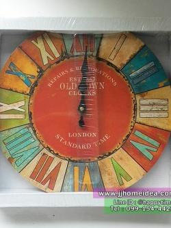 นาฬิกาแขวนตกแต่งบ้านสไตล์วินเทจ รุ่น Old Town Clocks เลขโรมัน