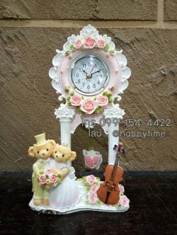 นาฬิกาตั้งโต๊ะสวยๆ หมีคู่แต่งงาน