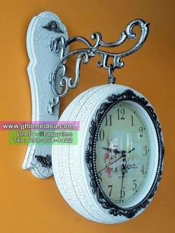 ของขวัญแจกลูกค้า - นาฬิกาแขวนผนังสองหน้า สไตล์วินเทจเก๋ๆไม่เหมือนใคร