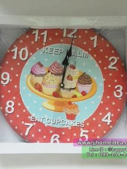 นาฬิกาติดผนังสไตล์ Vintage รุ่นคัพเค๊ก CUP CAKES หวานๆ