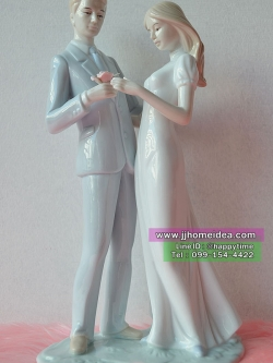 ตุ๊กตาพอซ์สเลนประดับตกแต่งบ้านตั้งโชว์ รูปคู่บ่าวสาวเต้นรำ
