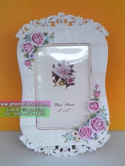 กรอบรูป Vintage ลายสวยๆ ขนาด 4x6 นิ้ว ประดับด้วยดอกกุหลาบ