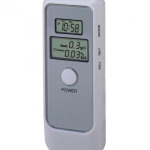 เครื่องวัดแอลกอฮอล์แบบพกพา Digital Alcohol Tester With LCD Clock