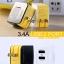 หัวชาร์จ หัวปลั๊ก 2 USB Remax แท้ 3.1A สีขาว ราคา 290 บาท thumbnail 8