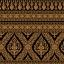 วอลเปเปอร์ (บอร์ดเดอร์) ลายไทย - ลายเทพพนม ทอง-ดำ : BD122-10 thumbnail 1