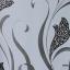 วอลเปเปอร์ลายดอกไม้โมเดิร์น เทา-ดำ thumbnail 1