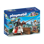 PLAYMOBIL 6696 Super 4 Jousting Rypan, Guardian of the Black Baron