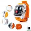 นาฬิกา 3G Wifi Android Watch กันน้ำ รุ่น X01 สีเงิน สายส้ม ราคา 3,990 บาท