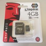 การ์ด Micro SD เมมโมรี่ การ์ด 4GB-Class 10 Kingstons แท้ 100% ลดราคา เหลือ 165 บาท
