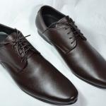 รองเท้าหนัง ชาย-หญิง ทรงหัวแหลม สีช๊อคโกแลต ไซส์ 36-47