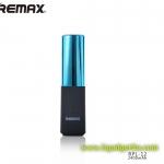 Power Bank ลิปสติก LIPMAX RPL-12 สีฟ้า Remax แท้ 2400 mAh ราคา 290 บาท