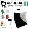 UDIOBOX III (UDIOBOX 30) สตูดิโอพับได้ พกพาถ่ายภาพสินค้า พร้อมไฟ LED 2 แถวในตัว แถมฉากหลังให้ 5 สี ขนาด 30x30x30 ซม