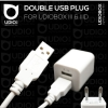 Double USB Plug ปลั๊กสำหรับเสียบใช้ไฟบ้านแบบ 2 ช่อง สำหรับ UDIOBOX III & IIID