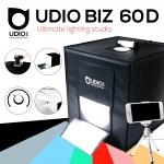 UDIOBIZ 60D ขนาด 60x60x60 ซม ปรับแสงได้ สตูดิโอพกพาแบบกระเป๋า พร้อมไฟ LED 4 แถวในตัว พับเก็บเปิดใช้งานได้ภายใน 10 วินาที