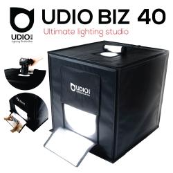 UDIO BIZ 40x40x40 สตูดิโอพกพาแบบกระเป๋า พร้อมไฟ LED 4 แถวในตัว พับเก็บเปิดใช้งานได้ภายใน 10 วินาที