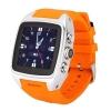 นาฬิกา 3G Wifi Android SmartWatch กันน้ำ รุ่น X01 สีเงิน สายส้ม ราคาขาย 4,950 บาท ปกติ 12,590