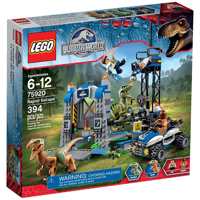 Jurassic Park World Velociraptor Chase Jurassic World Kids Toy New LEGO